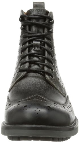 Charcoal uomo Nero Clarks Montacute Lord Leather Stivali 6qxwTXgv