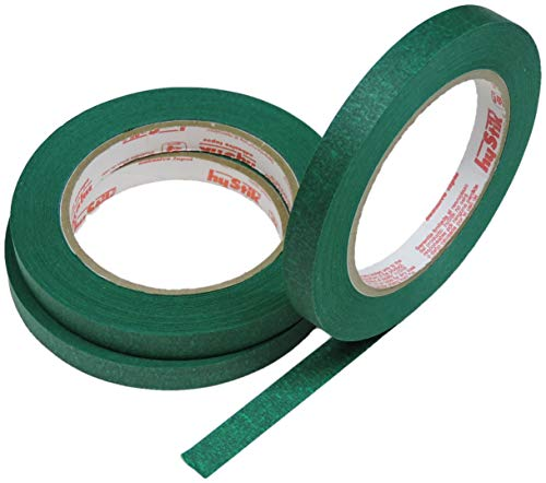 3pk 1/2 in x 60yd Dark Green Masking Tape Extra Sticky PRO Grade High Stick Special Project Painters Tape Painting Trim Arts Crafts School Home Office 21 Days 12MM x 55M .5 inch Forest Sage Evergreen