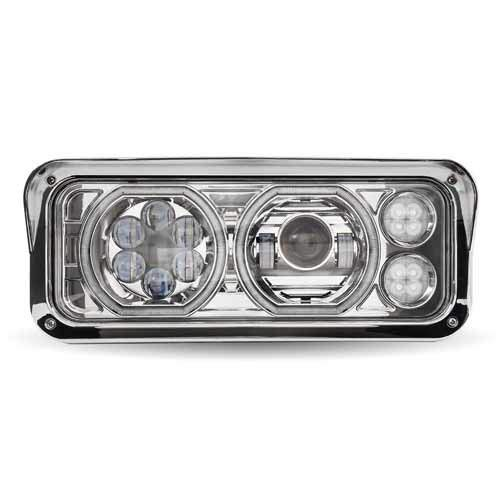 Trux Universal LED Projector Headlight Assembly - Chrome, Driver
