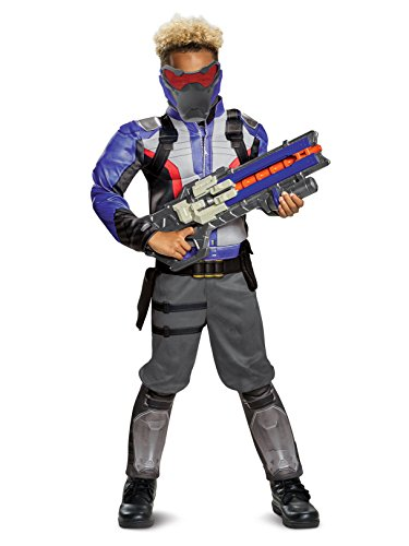 Disguise Soldier: 76 Classic Muscle Child Costume, Blue, -