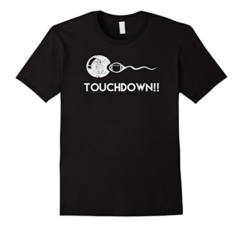 Mens Touchdown! Funny Football Expectant Father Shirt Large Black (About Football T-shirt)