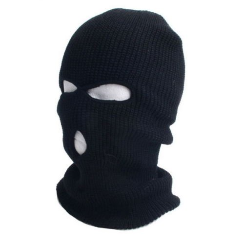 c999f42cfd8 bigcity Men s Hat Women Men Winter Warm Black Full Face Cover Ski Three  Holes Mask Beanie