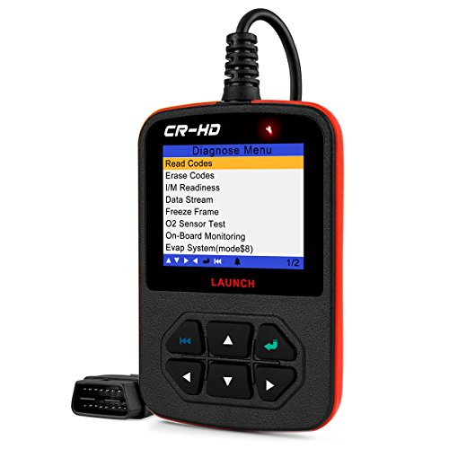LAUNCH CReader HD Plus Heavy Duty Truck Obd2 Diagnostic Reader OBDII Scan Tool CRHD Truck Code Scanner With OBD-II Communication Modes 1-10 and J1587, J1708 and J1939 protocols by Launch