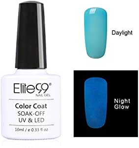 Qimisi Night Glow In The Dark Gel Nail Polish Soak Off Uv Led Luminous Gel Polish Candy Colour Fluorescent Nail Art 10Ml For Club, Festivals Or Night Out 6704