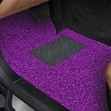 Uniqus Universal Car Anti-Slippery Rubber Mat PVC Coil Soft Floor Predector Carpet, Length  5m(Purple)