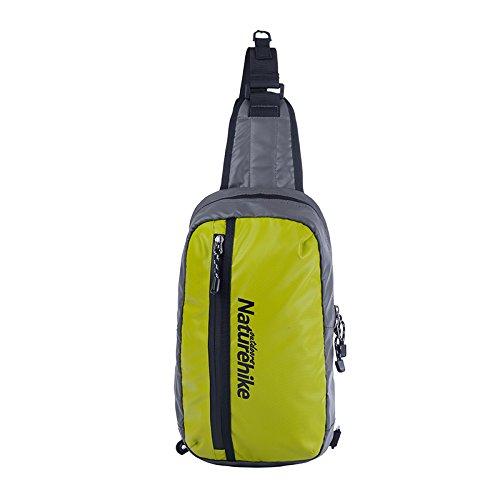 Naturehike bolsa de hombro Ocio Deporte impermeable Versipack seno bolsa de ciclismo unisex Messenger Bag, hombre mujer, naranja verde