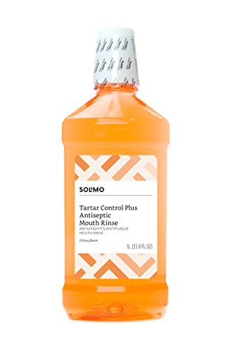 Amazon Brand - Solimo Tartar Control Plus Antiseptic Mouth Rinse, Citrus, 1 Liter