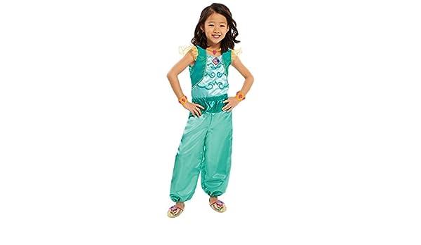 Shimmer & Shine, HMH042: Disfraz Brillante en Color Verde para ...