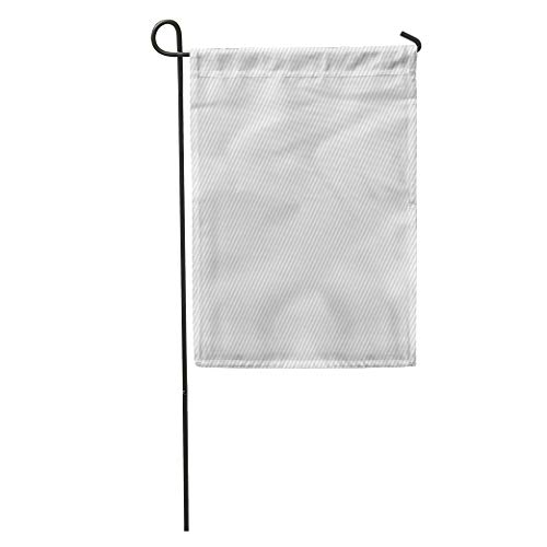 Semtomn Garden Flag Gray Stripe Striped White Grey Thin Blank Canvas Light Line Home Yard House Decor Barnner Outdoor Stand 12x18 Inches Flag