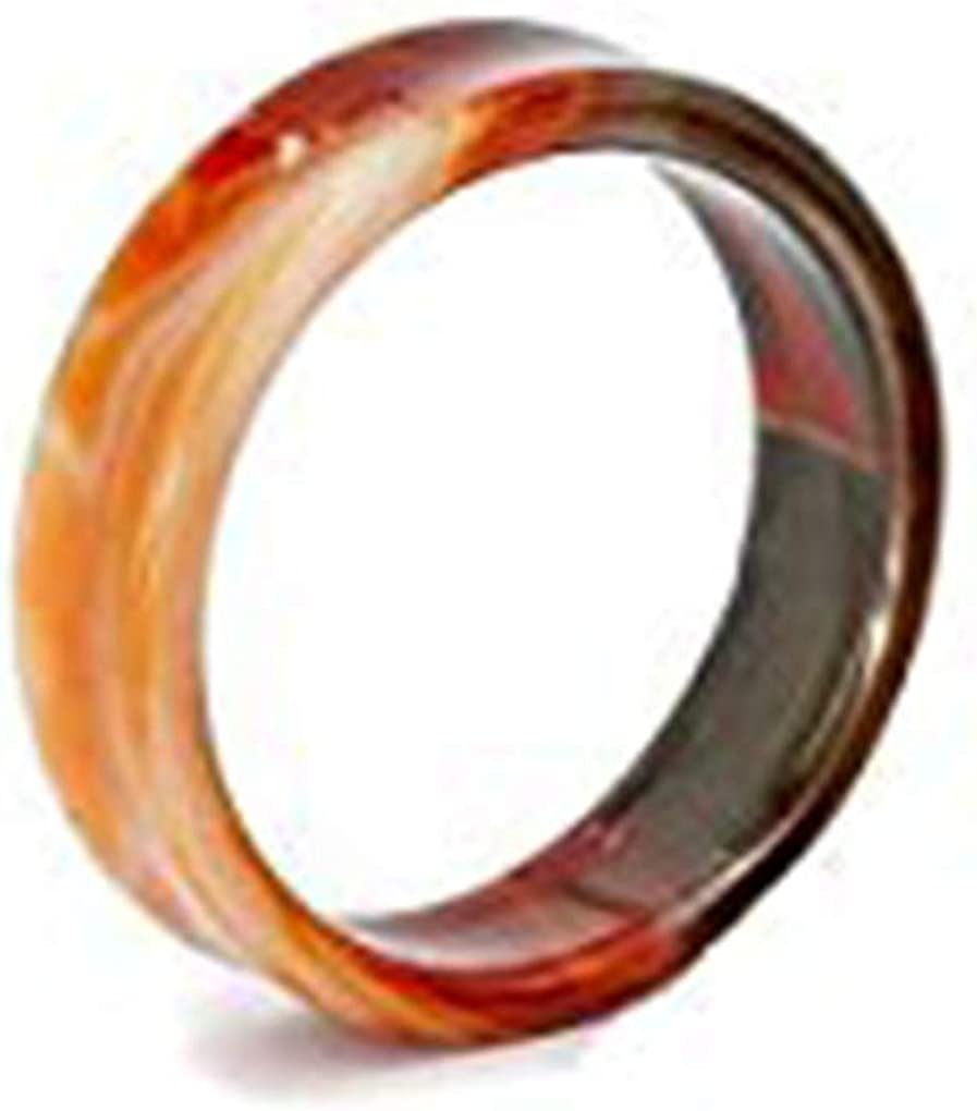 Painful Pleasures Red Agate Ear Tunnel Double Flare Hollow Plug Natural Stone Agate Color Will Vary 28mm to 50mm - Price Per 1