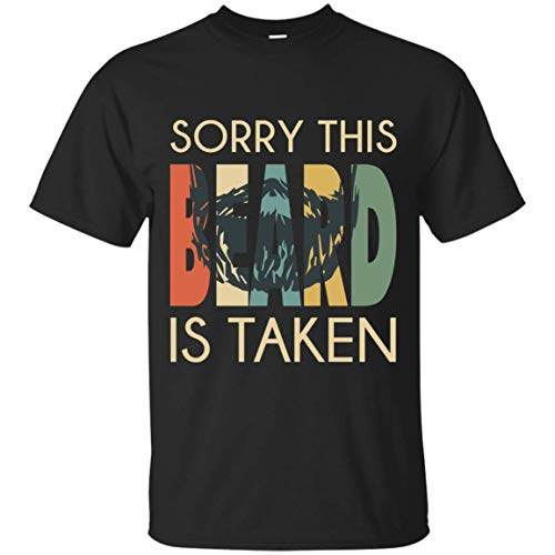 OMMSTORE Vintage Sorry This Beard is Taken Valentines Day Tshirt Gift -
