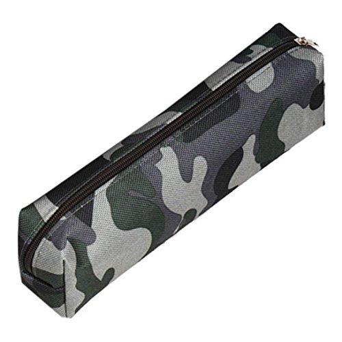 Hot Sale! Hongxin Personalized Camouflage Pen Bag Pencil Case Pouch Stationery Cosmetic Makeup Bag Papeterie Pochette Maquillage Back to School Supplies Creative Gift -
