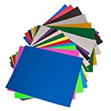 Heat Transfer Vinyl Sheets Variety Pack 18 Colors 12 Solid PU 4 Glitter 2 ...