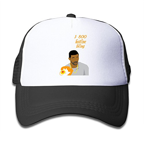 Bro-Custom Drake 1-800 Hotline Bling Boy's Baseball Hats Cap One Size Fit All Black