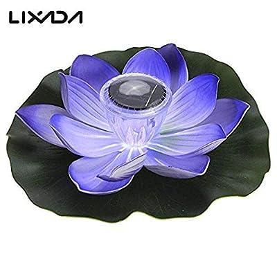 énergie solaire LED Lampe de fleur de lotus Multicolore RVB résistant à l'eau extérieur flottant étang Veilleuse pour jardin piscine