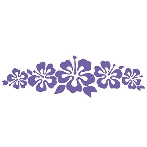 Hibiscus Band Vinyl Sticker - Flower Decal Hawaii Lavender Flower Lei