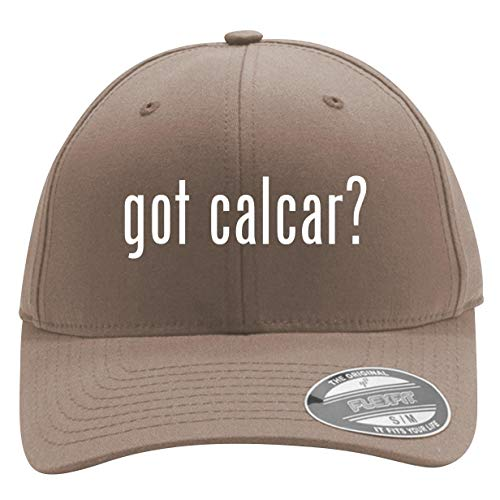 got Calcar? - Men's Flexfit Baseball Cap Hat, Khaki, Large/X-Large ()