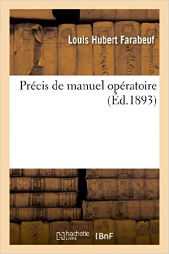 Livres Précis de manuel opératoire pdf, epub