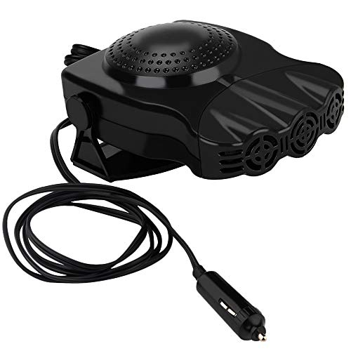 Portable Car Heater,Fast Heating 30s Quickly Defrosts Defogger 12V 150W Auto Ceramic Heater Cooling Fan 3-Outlet