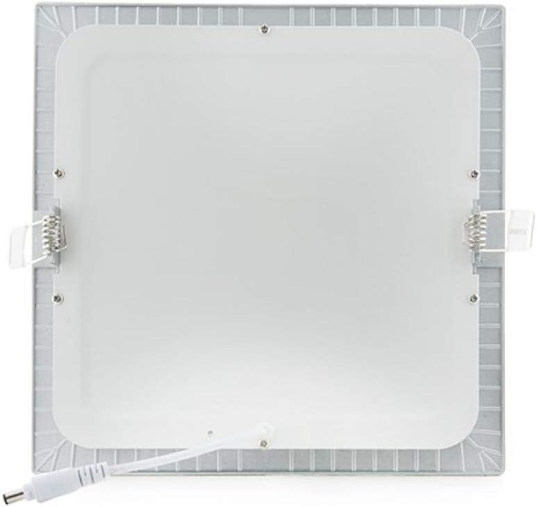Placa de LEDs Cuadrada Ecoline 224M 18W 1350Lm 30.000H Plata Blanco C/álido Greenice