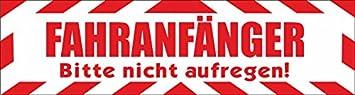 Indigos Ug Magnetschild Fahranfänger Bitte Nicht Aufregen Mit Rahmen 30 X 8 Cm Reflektierend Magnetfolie Für Auto Lkw Truck Baustelle Firma Auto