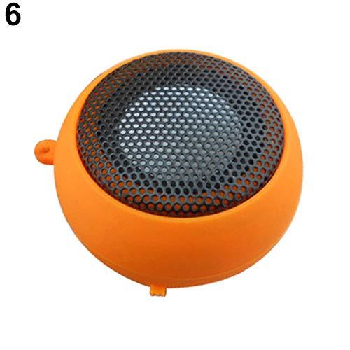 Softmusic Home Electronics Mini Portable Hamburger Speaker Amplifier for iPod iPad Laptop iPhone Tablet PC Orange