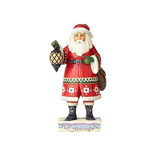 Enesco Jim Shore Heartwood Creek Santa with Lantern and Satchel (Claus Jim Santa Shore)
