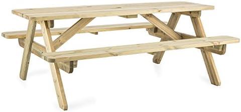 blumfeldt Picknicker 180 Mesa de Picnic con Asientos (45 kg ...
