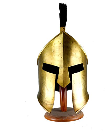 VTC Spartan King Leonidas 300 Movie Helmet with Black Plume -