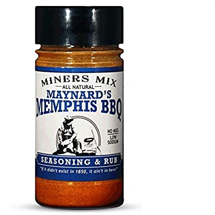 Amazon Com Miners Mix Maynards Memphis Championship Bbq Dry Rub Big Bold Flavor For Low N Slow Smoking Spare Ribs Baby Backs Butts Pulled Pork Brisket Or Beef No Msg Low Salt