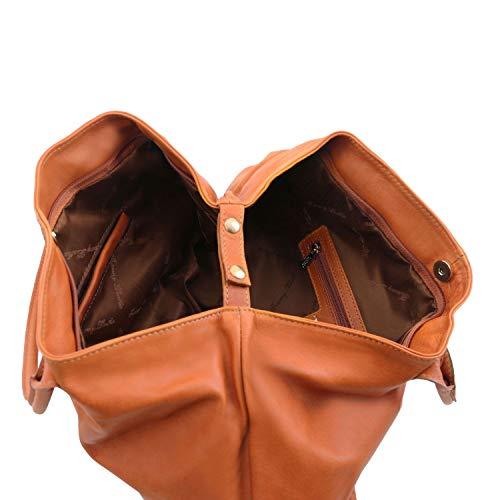 piel Bolso en Leather mujer Cognac Marrón para Tuscany KeyLuck topo TL oscuro xqfUtwfXp