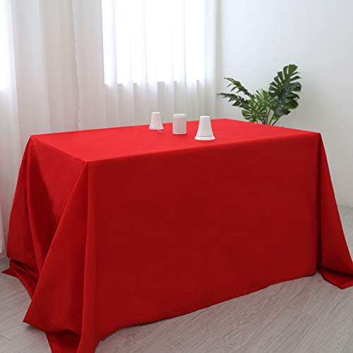 Zdada Red Rectangular 60x105inch Polyester Table Cloth Fabric Linen Tablecloth Wedding Reception Restaurant Banquet Party -