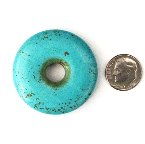 Picasso Jasper Oval Pendant Bead (Imagine If...Pendant - Donut Turquoise Bead 40mm)