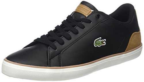 Lacoste Men Lerond 118 1 Cam Sneaker, Bianco Nero (blk / Lt Brw)