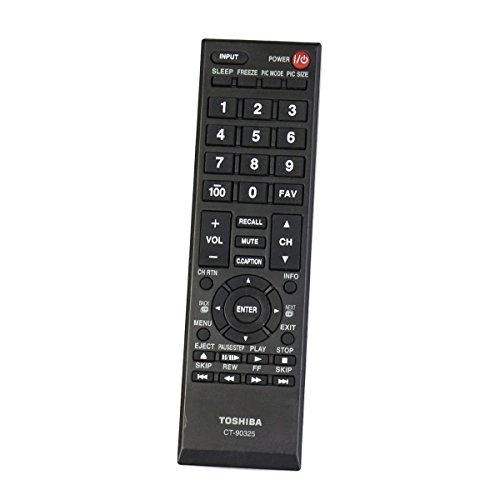 (Replacement Remote Control Controller For Toshiba 29L1350U, 50L2200U, 50L2400U, 37E20, 22AV600, 32C120U LED HDTV)