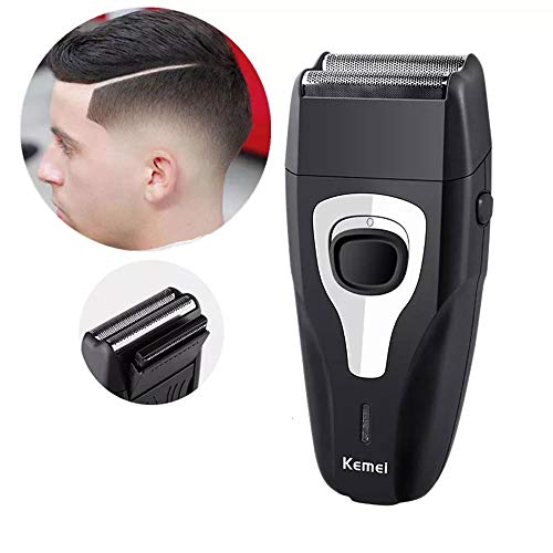 Men's Reciprocating Powerful Razor Shaver Electric Cordless Rechargeable Shavers Twin Blade Grooming Razor Precision Beard Sideburn Trimmer - Reciprocating Shaver Electric
