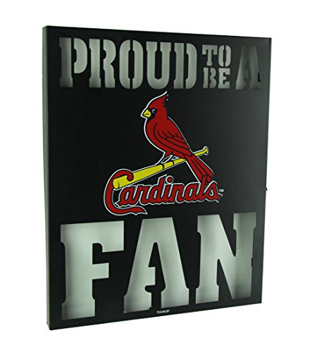 Team Sports America St Louis Cardinals LED Light Up Metal Wall Art