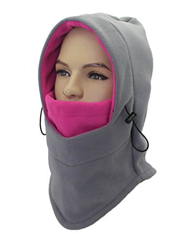 ZZLAY Balaclavas Hat Double Layers Thicken Caps Winter Warm Fleece Ski Face Mask (Outfit Ski)