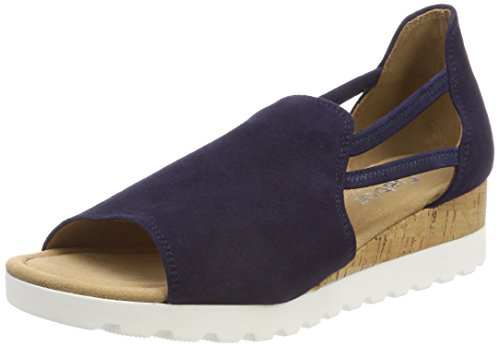 Women's Bluette Kork Ankle Strap Sandals Sport Comfort Gabor Blue dqFfwgd