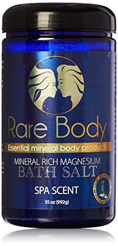 Rare Body Spa Scent Bath Salt - Relaxing Bath Soak with a Blend of Celtic Sea Salt, Epsom and Essential Oils, All Natural, Vegan and Gluten Free - 35 - Oz Body 35