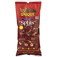 "Unique Pretzels - Extra Dark ""Splits"" Pretzels, Delicious Vegan Snack Pretzels Individual Pack, Large OU Kosher Pretzels, 11 Ounce Bag"