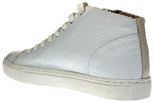CRIME London Raw Hi - Damen Schuhe Sneaker Schnürer - 25295S17 10-White, Größe:40 EU