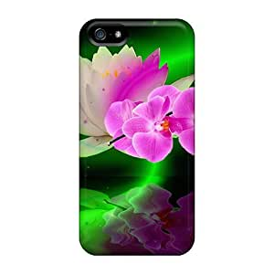 Hard Plastic Iphone 5/5s Case Back Cover,hot Waterlily Case At Perfect Diy