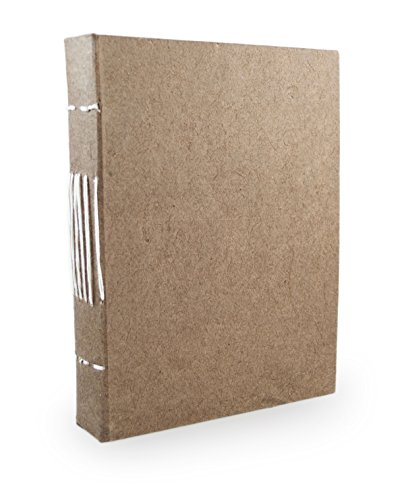 Nepali Keeper Journal with Handmade Lokta Paper. Made in Nepal. (5x7 Inches, (Walnut Notepad)
