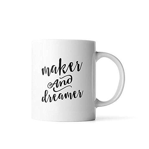 Maker and Dreamer mug   Dreamer Mug   Artist Gift (Fossil Back Chair)