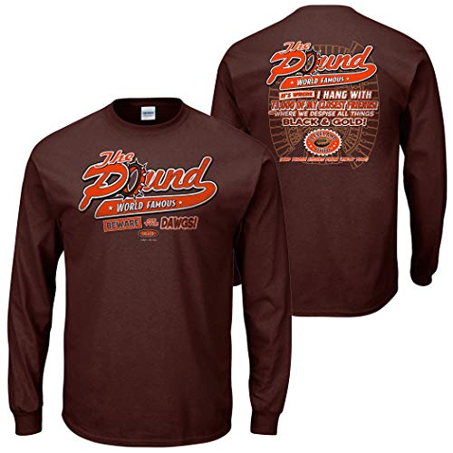 - Cleveland Football Fans. The Pound Brown T-Shirt (S-5x) (Long Sleeve, Large)