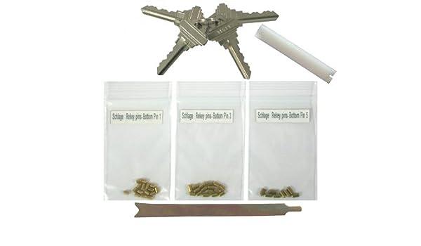 Schlage Rekey Kit  Rekey Up To 8 Locks Bottom Rekeying Pins Factory Cut Keys