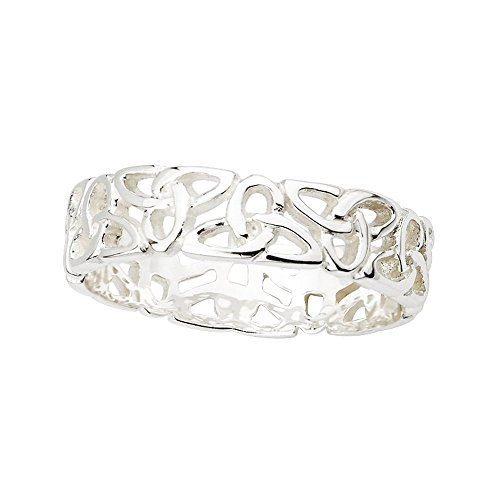 Valentine's Day Gift Irish Knot Ring Sterling Silver Made in Ireland 10 (Best Castles In Ireland)