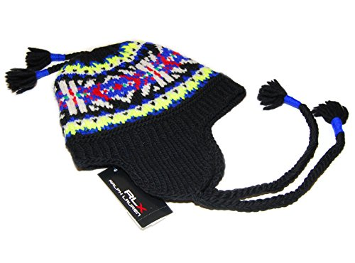 Ralph Lauren RLX Mens Womens Wool Ski Skull Knit Hat Cap Black Yellow Blue Red by RALPH LAUREN