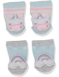 Kids' Little Baby Newborn 2 Pack Rattle Socks, Stars, One Size